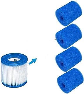 Cartucho de filtro esponja para filtro Intex tipo H, reutilizable y lavable cartucho de repuesto para filtro de piscina, hidromasaje, spa, para filtro de piscina de rocío (2 unidades)