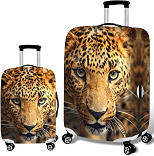 Baggage Covers Tropical Leaves Floral Leopard Washable Protective Case