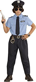 a195982acc WIDMANN- Poliziotto Camicia Pantaloni Cintura Cravatta Cappello Costumi  Completo 861 per Adulti, Multicolore,
