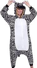 Silver Lilly Unisex Adult Pajamas - Plush One Piece Cosplay Zebra Animal Costume