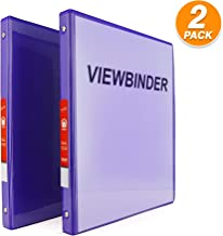 Purple 3 Ring View Binder 1/2