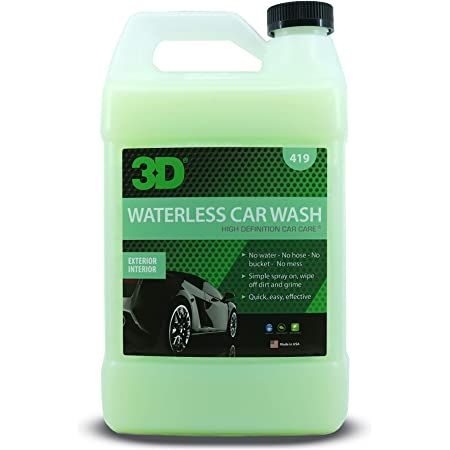 3D Waterless Car Wash - Easy Spray Waterless Detailing Spray - No Soap or Water Needed - Great on Cars, RVs, Motorcycles & Boats 1 Gallon
