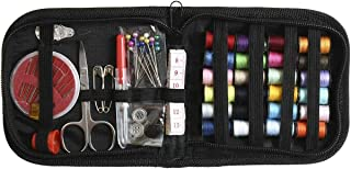 66pcs Small Portable Sewing Kit (Thread, Scissor, Needle, Tape, Pins & Thimble) Perfect for Beginners