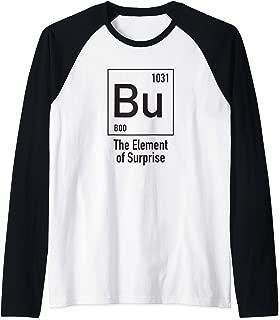 Chemistry Halloween Costume Bu The Element of Surprise Raglan Baseball Tee
