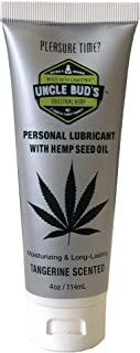 Uncle Bud's Hemp Personal Lubricant Water Base Paraben Free, Sulfate Free, GMO Free
