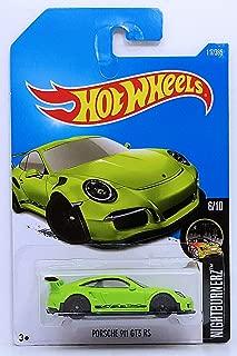 Hot Wheels 2017 Nightburnerz Porsche 911 GT3 RS 117/365, Neon Green