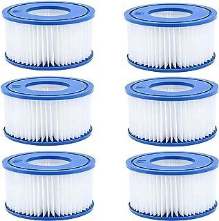 XIAOL VI - Cartucho de filtro para piscina Bestway VI para filtro de piscina Lay-Z-Spa Miami, Vegas, Monaco, tamaño 6-58323 (6 unidades)