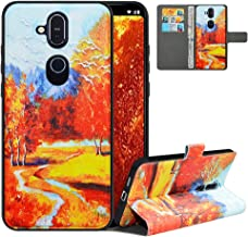 LFDZ Compatible with Nokia 6.1 Case, PU Leather Nokia 6.1 Wallet Case with [RFID Blocking], 2 in 1 Magnetic Detachable Flip Slim Cover Case for Nokia 6.1 2018,Autumn