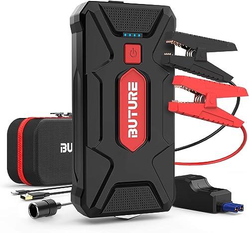 BuTure Avviatore Batteria Auto, 1600A 20000mAh Booster Avviamento Auto Portatile Avviatore Emergenza per Auto/Moto (M...