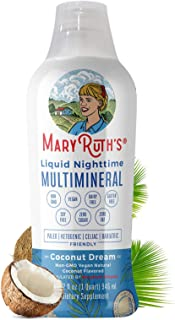 Liquid Sleep Multimineral by MaryRuth's (Coconut) Vegan Vitamins, Minerals, Magnesium, Calcium & MSM - Natural Sleep & Str...