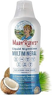 Liquid Sleep Multimineral by MaryRuth's (Coconut) Vegan Vitamins, Minerals, Magnesium, Calcium & MSM - Natural Sleep & Str...