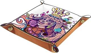 Vockgeng Couronne de Femme Boîte de Rangement Panier Organisateur de Bureau Plateau décoratif approprié pour Bureau à Domi...