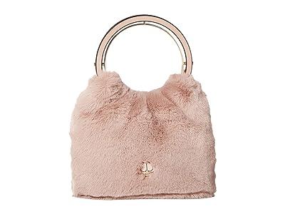 Kate Spade New York Betty Fur Swag Bag (Dusty Rose) Bags