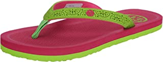 Ice Candy Latest Collection Fuchsia Colour Diva Series PVC Tissue Casual Slippers for Women