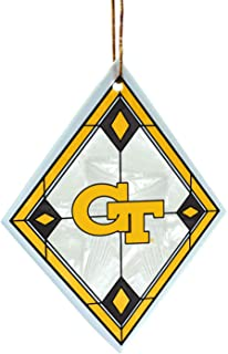 NCAA Georgia Tech Yellow Jackets Art Glass Ornament