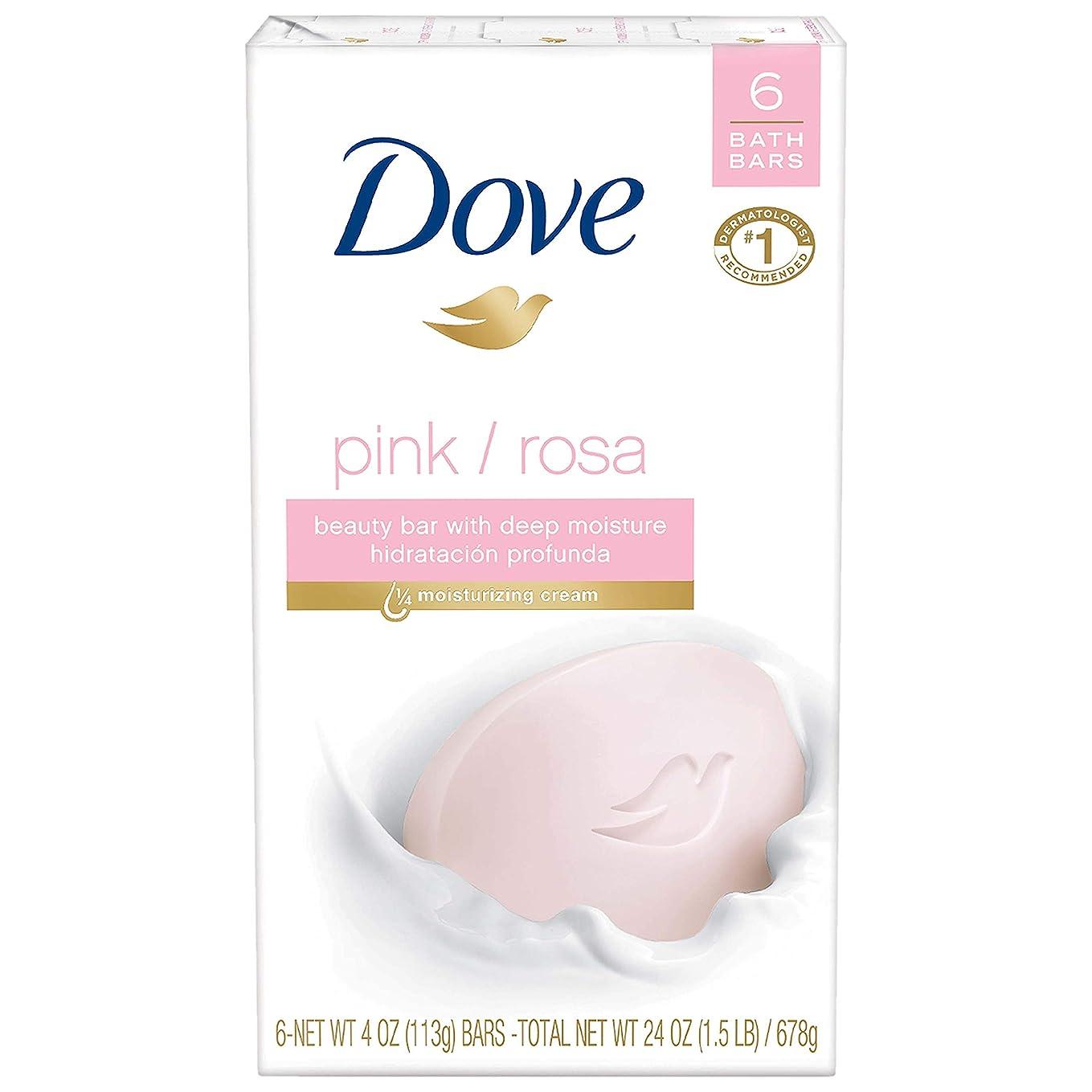 カポック大事にするブルーム〈海外直送品〉ダブ 固形石鹸 ビューティーバー ピンク Dove Core Beauty Bar Pink 4 oz, 6 Bar