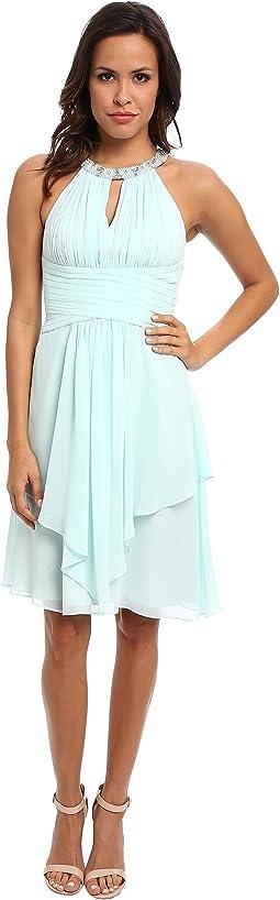 Sophie Beaded Halter Dress