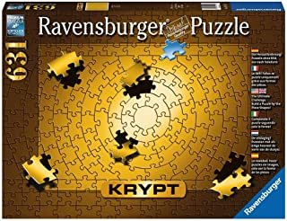 Ravensburger Krypt Puzzle Gold 631 Piece Jigsaw Puzzle for Adults - Every Piece is Unique, Softclick Technology Means Piec...
