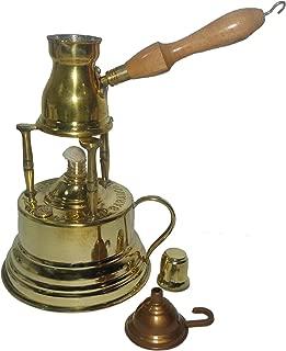 ELBARAMONY Brass Turkish Coffee Maker (Alcohol Burner) + Pot Ibrik 428
