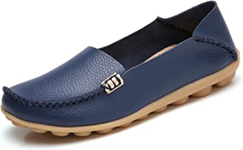 Best navy leather flat shoes womens Reviews