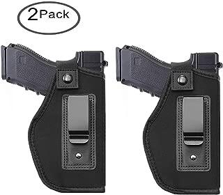Tenako Inside IWB Holster Waistband Fits All Firearms S&W M&P Shield 9/40 1911 Taurus PT111 G2 Sig Sauer Glock 17 19 26 27 42 43 Springfield XD XDS