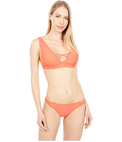 Volcom Simply Solid Halter (Electric Coral) Women