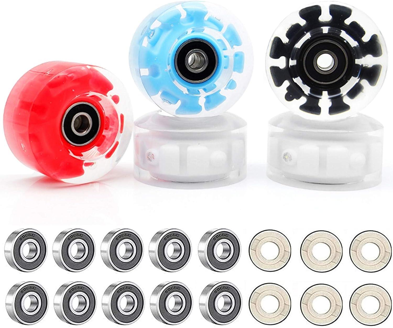 LED-Lichtern innen vielseitige Skating-R/äder mit Kugellagern Urstory1 4 leuchtende Rollschuh-R/äder 58 x 32 mm Quad Rollschuh-R/äder 82 A