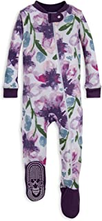 Burt's Bees Baby – Baby Girls Sleeper Pajamas, Zip Front Non-Slip Footed..