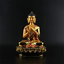 PPCP Exquisite Big Buddha Statue 20.5cm Gold Colored Plating Resin Quality Buddhist Tibetan Rulai Statue Figure