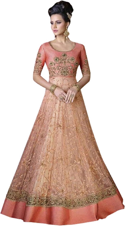Bollywood Anarkali Suit Gown Dress Long Muslim Wedding Wear Ceremony 640