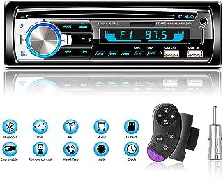 Radios de Coche Autoradio Bluetooth Manos Libres, Lifelf Radio Estéreo 4 x 65 W 1 Receptor de Radio para Coche DIN con Rep...