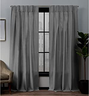 """Exclusive Home Curtains Panel Pair 96"""" Length EH8369-01 2-96B"""