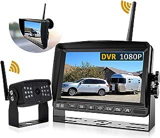Wireless Backup Camera, DOUXURY 1080P Digital Wireless Backup Camera with 7 Inch DVR HD Monitor, Upgraded Strong Signal Su... photo