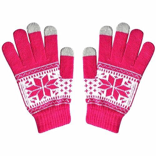 Active Smart Phone Knit Soft Screen Gloves,Alalaso Fashion Men Women Winte Texting Cap Mittens