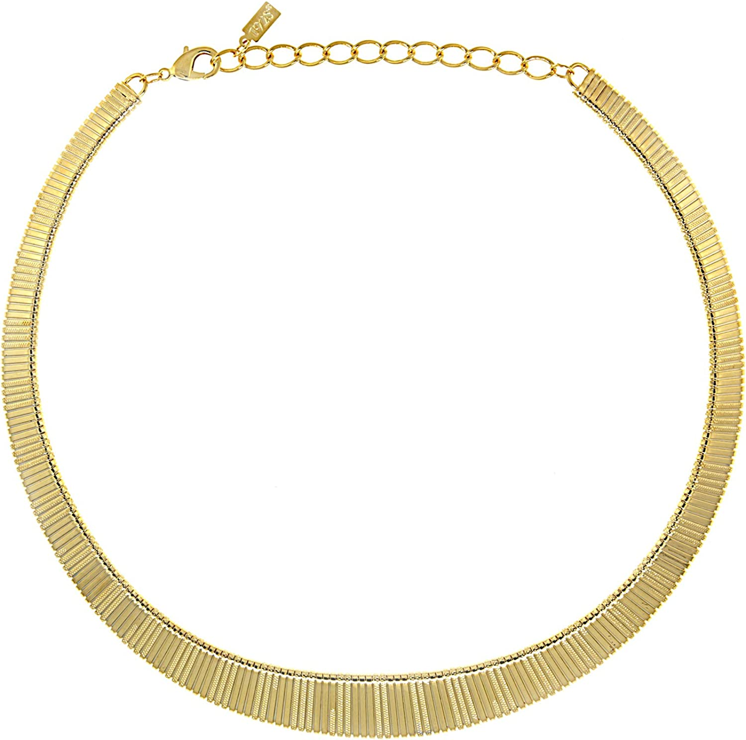 1928 Jewelry 14K Gold Dipped Collar Necklace 18 in Adj