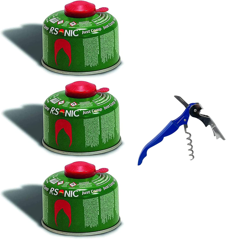 RSonic Cartucho de válvula de rosca, gas butano y propano/válvula de gas para hornillo de camping, cartucho de gas con válvula de rosca 100-230-450 g ...
