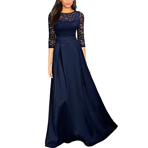 Navy Blue Long Dress Amazon Com