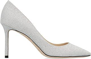 JIMMY CHOO Luxury Fashion Womens ROMY85XGCSILVER Silver Pumps | Fall Winter 19