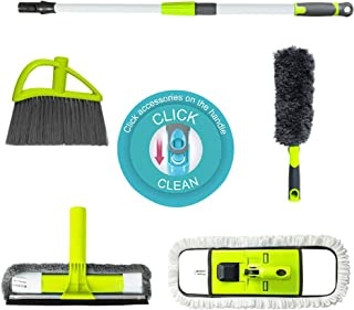Guay Clean Home Cleaning Kit with Telescopic 4 Ft Pole - Includes: Microfiber Mop 360 Degrees Rotatable Duster Broom and 2...