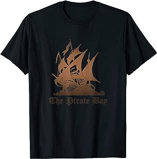 The Pirate Bay Logo Flag Crossbones Torrent Skull T-Shirt