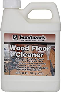 Lundmark Wood Floor Cleaner, for Paste Wax Finish Floors with Carnauba Wax, 32-Ounce, 3207F32-6