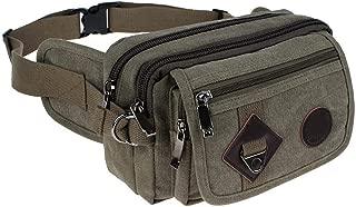 2019 Fashion Casual Canvas Messenger Bags Waist Packs Purse Men Portable Vintage Men Waist Bags Travel Belt Wallets,Army green
