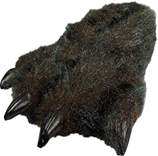 Image of Black Bear Paw Slippers for Boys