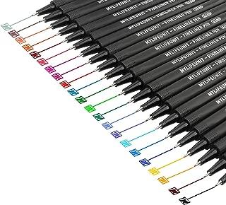 MyLifeUNIT Fineliner Color Pen Set, 0.4mm Colored Fine Liner Sketch Drawing Pen, Pack of 22 Assorted Colors
