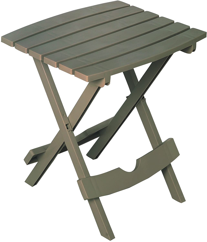 Adams Manufacturing 8500-13-3900 Quik Fold Side Table, Gray : Patio, Lawn & Garden
