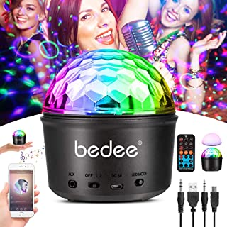 Party Lights Sound Activated Disco Ball with Remote Control 9 Colors Disco Lights DJ Lights Wireless Phone Connection LED Stage Light for Kids Bedroom Wedding Party Birthday