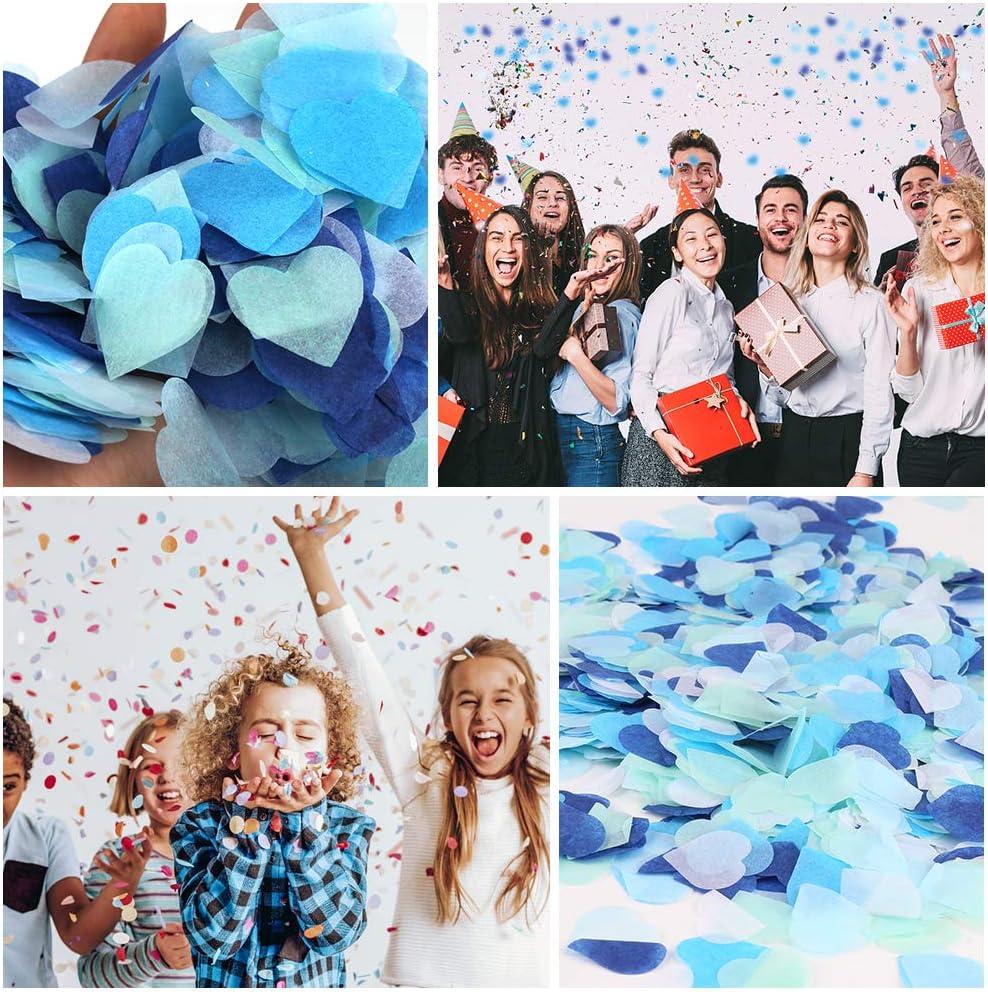 Vegena 6000 Pi/èces Confettis en Forme de c/œur Coeur Papier confettis Tissu Confetti Party Decorations de Table pour la d/écoration de Table de f/ête danniversaire Femme Fille Enfant