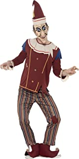 Smiffys Men's Possessed Punch Costume, Top, Pants, Hat, Boot Covers and Latex Mask, Cirque Sinister, Halloween, Size