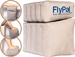 """Flypal Inflatable Foot Rest for Travel, Home and Office and Blow-Up Pillow Cushion for Kids to Sleep on Long Flights, 17""""x11"""
