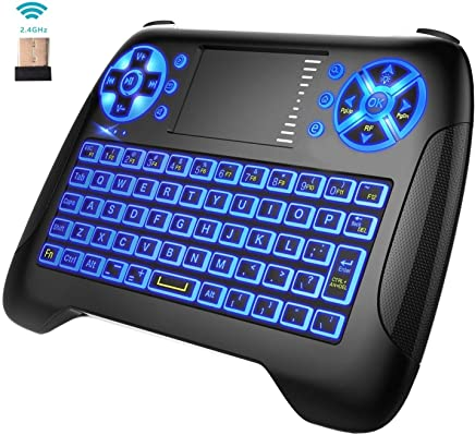 Amazon com: [3-Color Backlit] Mini Keyboard Remote Touchpad Mouse